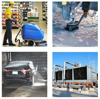 El lavado de piso, patios y fachadas con el agua que obtienes de tu planta tratadora de aguas residuales, es muy económico y mantiene la buena imagen de tu empresa.